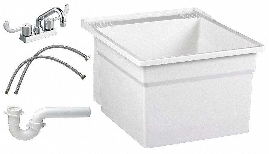 fiat products serv a sink series laundry 1 molded stone laundry tub kit