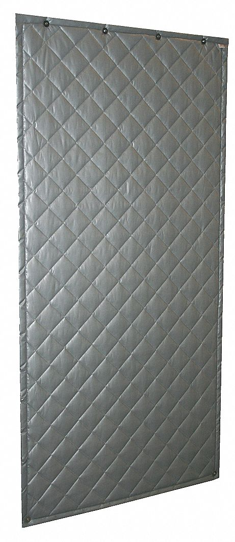 SOUND SEAL Wall Blanket Noise Absorbing Gray 5T498110