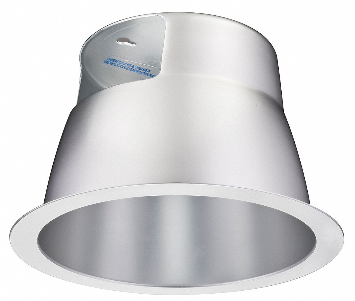 8 in silver baffle style fluorescent recessed downlight trim aluminum reflector
