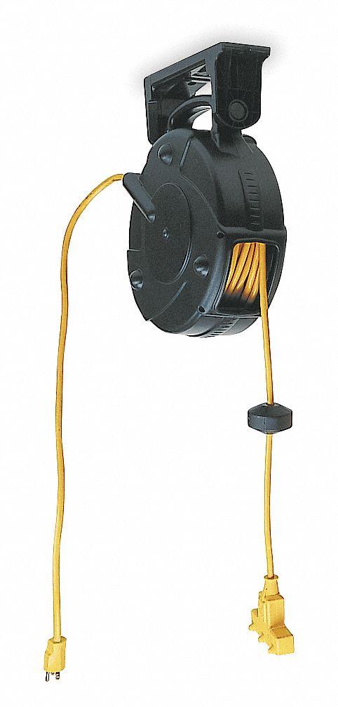 LUMAPRO Cord Reel120VAC40ftBlack15A123 6YF676YF67 Grainger