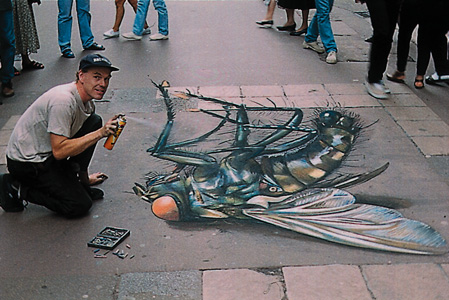 Julian Beever: Giant Fly