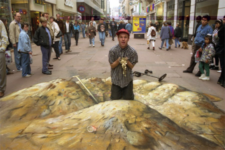 Julian Beever Gold Digging 5