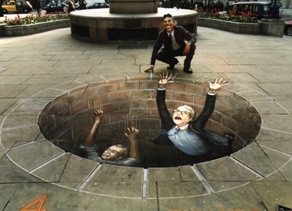 Julian Beever: Politicians Meeting Their End