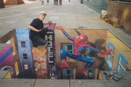 Julian Beever: Spiderman
