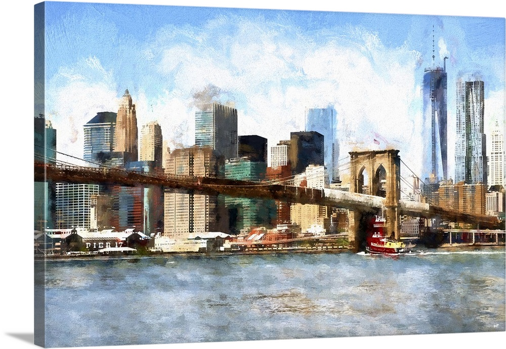 View of Midtown Manhattan  NYC Painting Series Wall Art  Canvas     View of Midtown Manhattan  NYC Painting Series