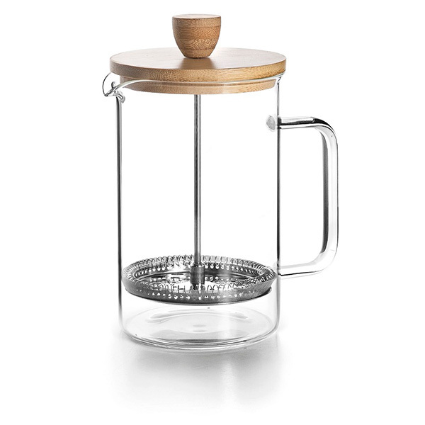 cafetiere a piston wood 6 tasses