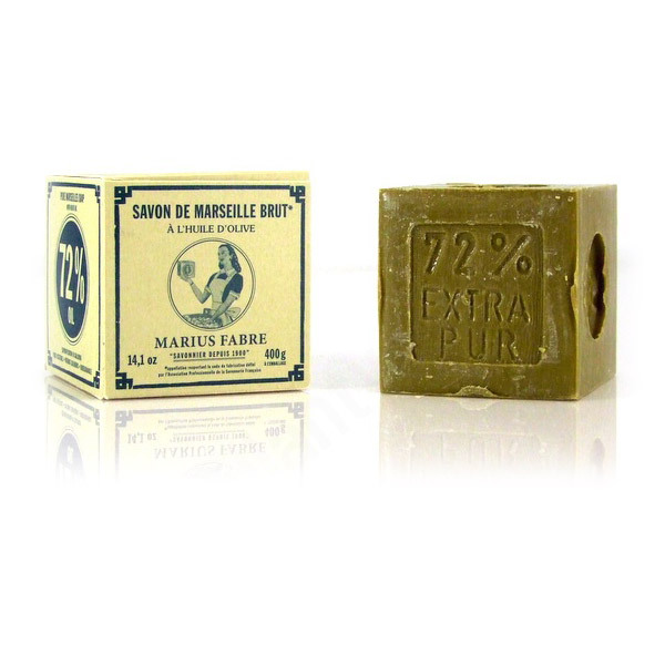 Marseille Olive Oil Soap - 400g Marius Fabre   Shop online at Greenweez.co.uk