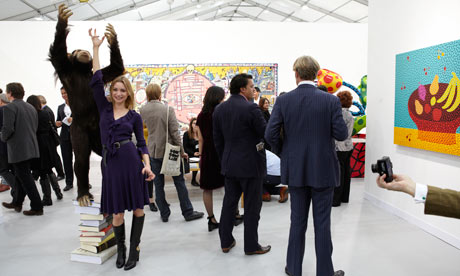 Punters, artists and art dealers at the Frieze art fair in London last Tuesday