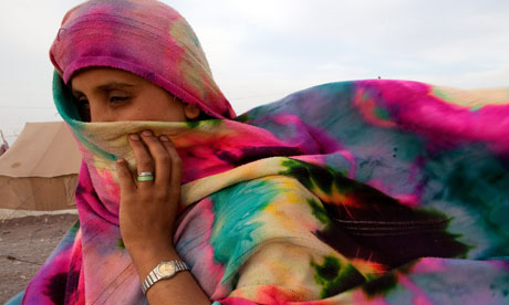 A Pakistani displaced woman