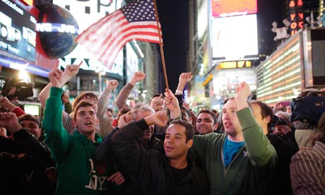Americans celebrate the death of Osama bin Laden