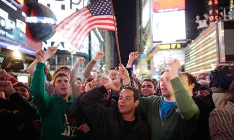 Americans celebrate the death of Osama bin Laden