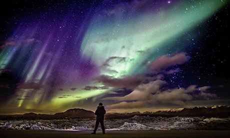 Aurora Borealis or Northern Lights, Iceland<br />