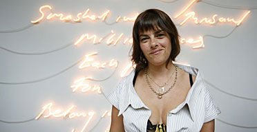 Tracey Emin at the British pavilion in Venice
