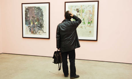 'Imagine an art world without reviewers' ... Works by Jake and Dinos Chapman cause consternation at a White Cube exhibition. Photograph: Sarah Lee