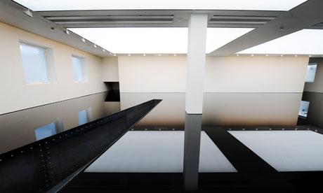Richard Wilson's art installation 20:50 at the Saatchi Gallery, London