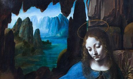 Detail from Virgin of the Rocks by Leonardo da Vinci