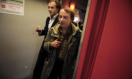 Michel Houellebecq and Bernard-Henri Levy