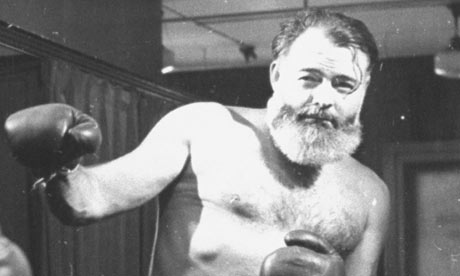 Ernest Hemingway boxing photo