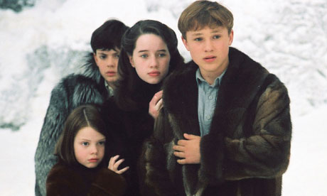 The Pevensies in the 2005 film The Chronicles of Narnia: The Lion, the Witch and the Wardrobe.