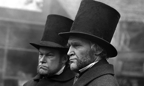 Timothy West and Patrick Allen in ITV's Hard Times