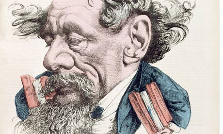 Caricature of Charles Dickens, 1868