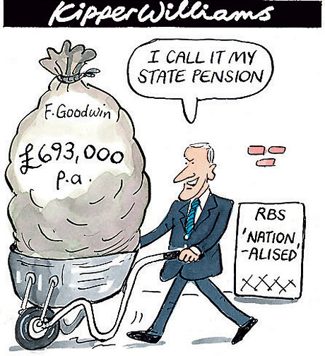 RBS bank pension scandal, cartoon