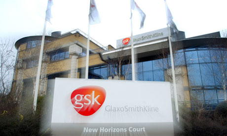 GlaxoSmithKline (GSK) headquarters in London