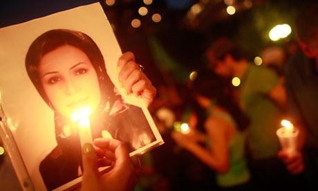 Vigil for dead Iranian student Neda Agha-Soltan