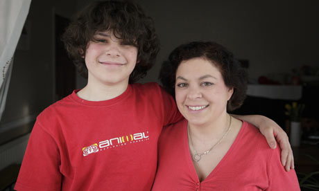 Claire Bell with her son