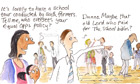 Cartoon: school for equal opportunities