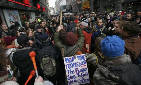 COP15 Demonstrators attend protest march in central Copenhagen