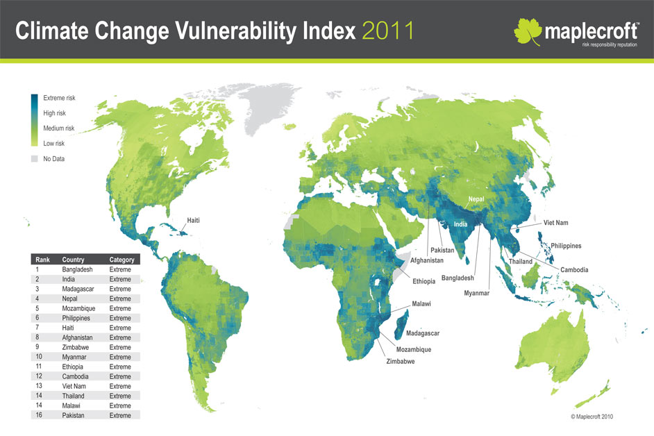 Climate Change Vulnerability Index 2011