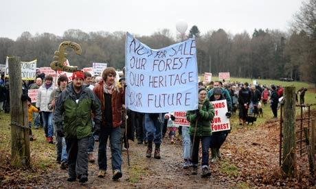 Campaigners at the Forest of Dean