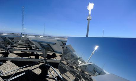 Suzanne blog : Solar energy : eSolar Sierra SunTower power plant in Lancaster, California