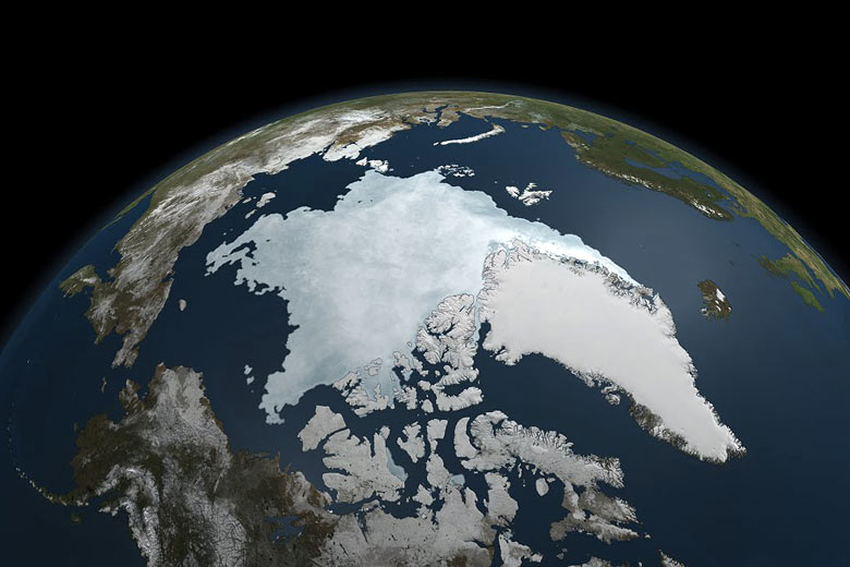The Arctic's near-record sea ice low – big picture