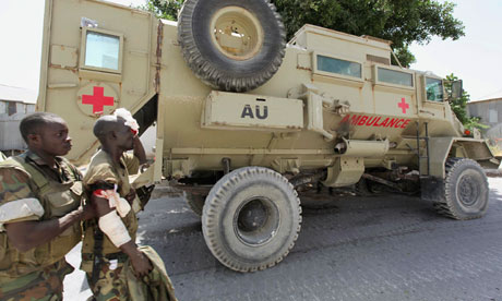 MDG : African Union (AU) :  peacekeeper from the African Union Mission in Somalia (AMISOM)