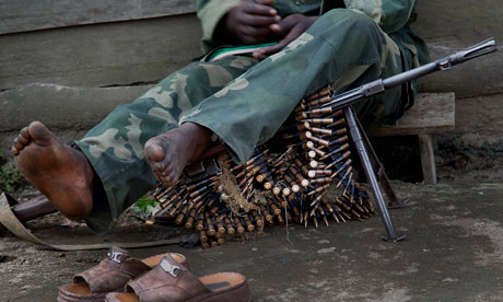 The UK is withholding aid to Rwanda in light of accusations of Rwandan support for M23 rebels in Congo DRC. Photograph: Jerome Delay/AP