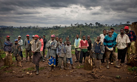 MDG : Land grab in Kenya : People who live on disputed land at the Mau forest