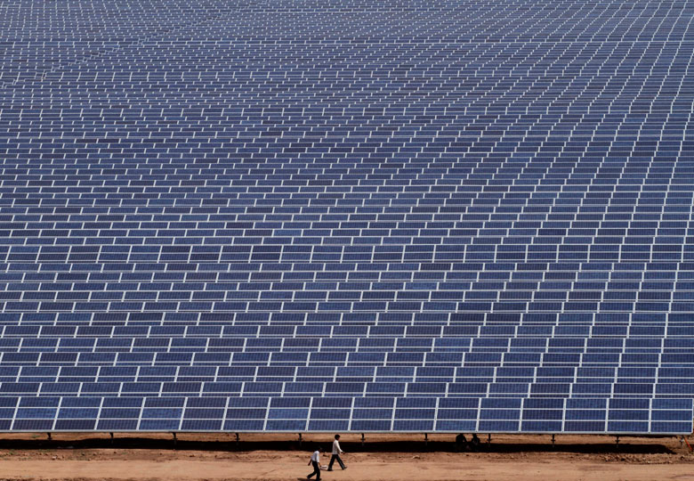 Big Picture : The Gujarat Solar Park at Charanka in Patan district , India