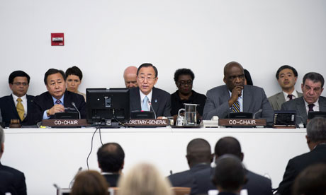 UN Secretary-General Ban Ki-moon in the Third Round of informal negotiations on the Rio+20