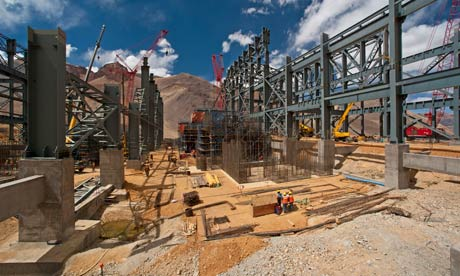 MDG :  Barrick Gold's gold processing plant at Pacua-Lama mine on the border of Chile and Argentina