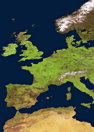 Satellite Eye on Earth : View from space of spring in Europe