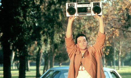 john cusack holding a radio in say anything movie