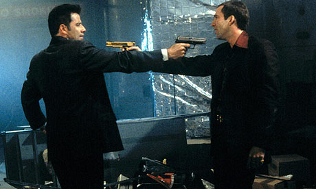 John Travolta and Nicolas Cage in Face/Off (1997)