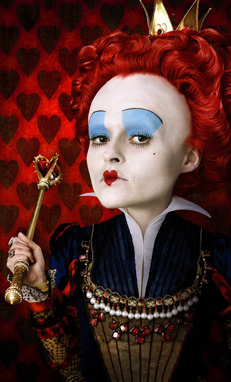Tim Burton's Alice in Wonderland - concept art. Helena Bonham Carter as the Red Queen