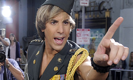 Sacha Baron Cohen as Bruno. Photograph: Chris Pizzello/AP (The Guardian)