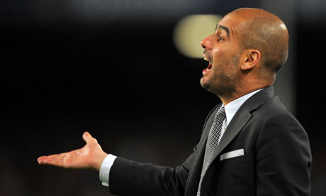 Barcelona's Pep Guardiola is wary of the threat of Manchester United in the Champions League final
