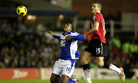 Cameron Jerome Nemanja Vidic Birmingham City Manchester United