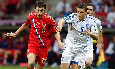 Euro 2012: Greece v Russia - as it happened | Evan Fanning | Football | guardian.co.uk