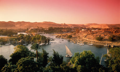 Nile evening Aswan Egypt